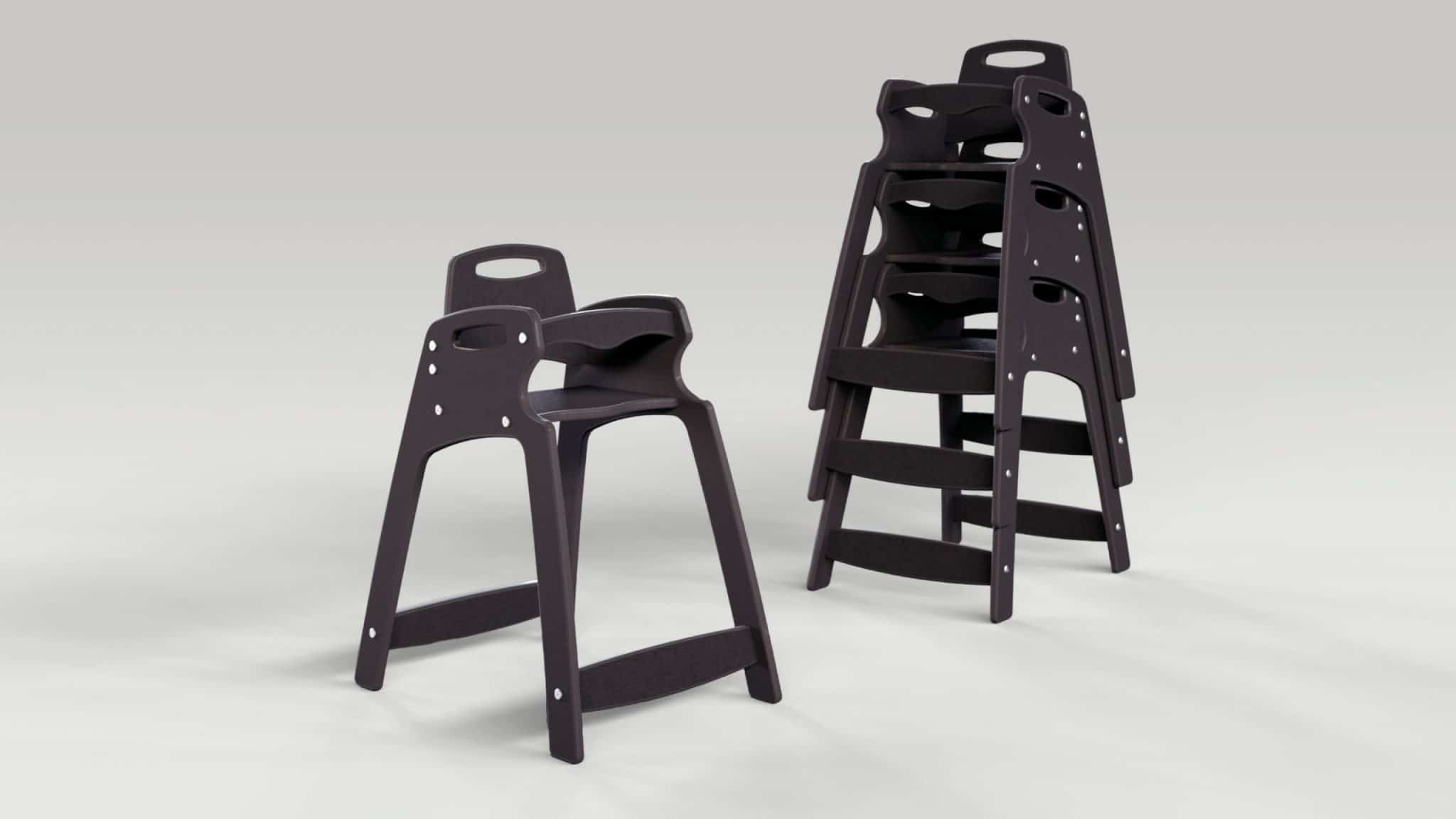 CSL Eco High Chair Stacked