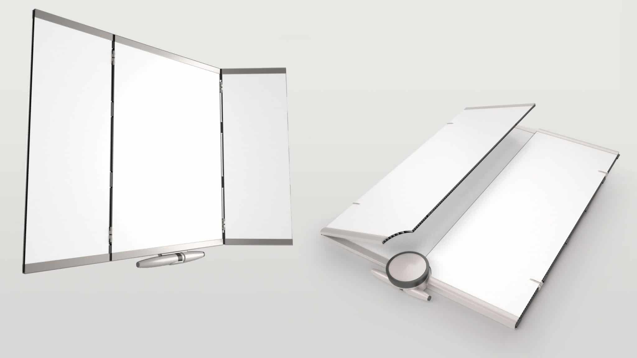 Tenex Trifold White Board Opened and Closed